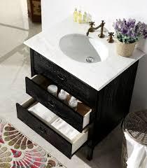 Black Bathroom Vanities With Tops Abel 30 Inch Black Bathroom Vanity Marble Top