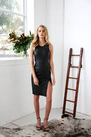 leather dress anouck leather dress black 2ndskin