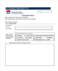 complaint form templates
