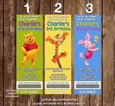 winnie pooh invitations novel concept designs winnie the pooh movie ticket birthday