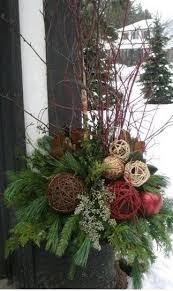 Christmas Decorating Front Entrance by 1052 Best Christmas U0026 Winter Pots Images On Pinterest Christmas