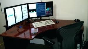 computer desk for 2 monitors desk for dual monitors desk for dual monitors dual monitor computer