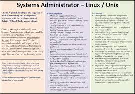 doc 710890 nt unix system administrator resume example doc 710890
