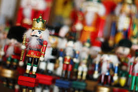 nutcracker king in front of soldiers stock photo