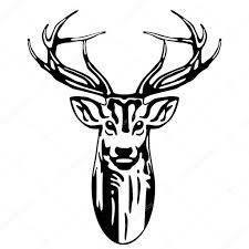 deer head u2014 stock vector scusi0 9 3620744