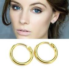 14k gold plated on 925 sterling silver hinged hoop sleepers