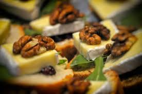 canape sofia canapés with horseradish sauce cranberries brie cheese and