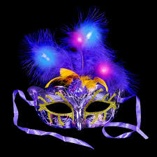 bulk mardi gras light up mardi gras feather masks z novelties