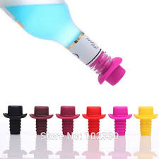 personalized preserver personalized top hat shaped silicone wine stopper chagne wine