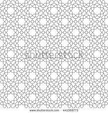 seamless vector ornament modern geometric pattern stock vector