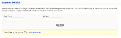 Career Cruising Resume Builder Creating A Resume