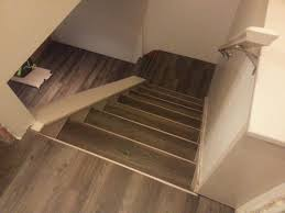 Laminate Floor Steps Drop U0026 Done Luxury Vinyl Plank In Eastern Township With Metal