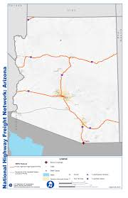 Arizona State Map With Cities by National Highway Freight Network Map And Tables For Arizona Fhwa