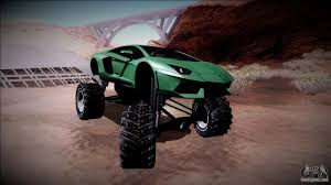 off road lamborghini lamborghini aventador monster truck for gta san andreas