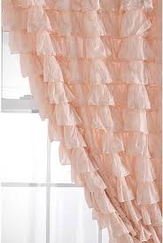 Ruffled Pink Curtains Waterfall Ruffle Curtain Pink Curtains Pale Pink And Ruffled