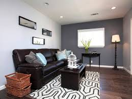 Paint Colors For Living Room Walls With Brown Furniture Unique Geometric Rug With Wooden Floor For Small Living Room