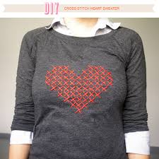 diy sweater über chic for cheap diy cross stitch sweater