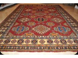 Red And Blue Persian Rug by 11 U0027 X 8 U0027 Handmade Caucasian Design Kazak Rug With Red Background