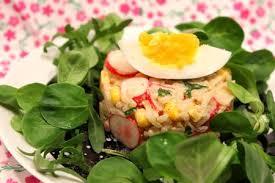 cuisiner la salade verte salade de riz colorée pour ceux qui aiment cuisiner