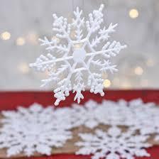 bulk white glitter snowflake ornaments ornaments