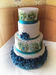peacock themed wedding peacock themed wedding cake handpainted cakecentral