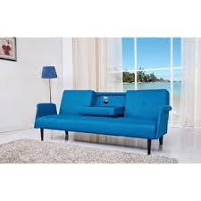 blue sofa bed abbyson bradley teal mid century fabric sofa free shipping today