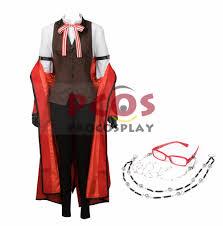 Butler Halloween Costume Black Butler Kuroshitsuji Grell Sutcliff Cosplay Costume