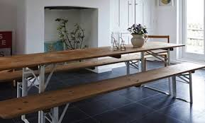 Beer Garden Tables by How To Use A Classic Outdoor Table Inside The Home Care2 Healthy