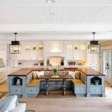 fantastic kitchen island with built in seating verambelles
