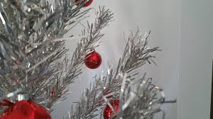 silver christmas tree red ornament free stock photo public