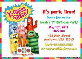 yo gabba gabba birthday invitations dolanpedia invitations ideas
