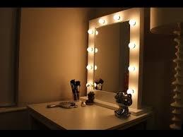 hollywood mirror lights ikea vanity mirror with lights ikea youtube