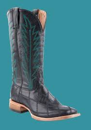 stetson men u0027s black goat patchwork vamp black shaft cowboy boots c o