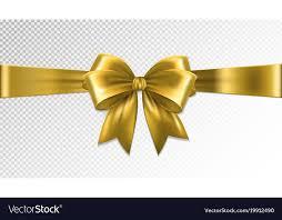 gold satin ribbon shiny gold satin ribbon on transparent background vector image