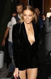 braless leann rimes takes the plunge in low cut velvet blazer