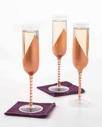 champagne glass copper champagne glasses martha stewart