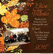 photo thanksgiving cards personalized fall greetings