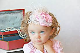 vintage headbands posh pink vintage couture rosette satin and feather headband