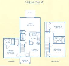 3 Bedroom Villa Floor Plans by 3 Bed 2 Bath In Tampa Fl The Villas At Newport Landing