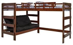 Bunk Bed For 3 Hutchinson Mocha Sleeps 3 Or 4 Futon Bunk Loft Bed Transitional