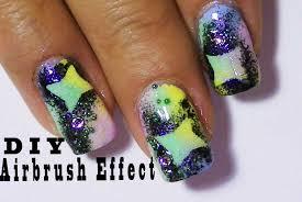 airbrush effect nail design using nail polish colorful fun