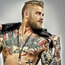 beard style with undercuts hair idaes big black chest tattoos for