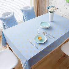 table covers for party linen cotton table cloth banana printed blue lace rectangular