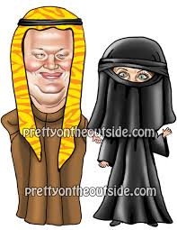 Burka Halloween Costume Pretty Michele Marcus Bachmann Couple