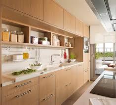 natural wooden wardrobe for kitchen design with white granite