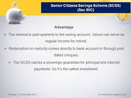 senior citizens savings scheme scss how to save tax part 5