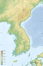 Topographic Map Of The World by Detailed Topographic Map Of Korean Peninsula North Korea Asia