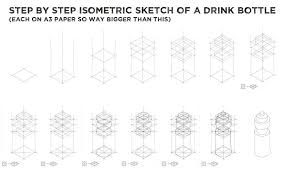 isometric sketch u2013 design drawer