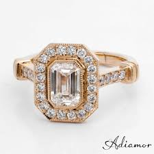 diamond custom rings images Custom emerald cut diamond engagement rings adiamor jpg