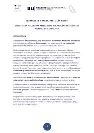 guia de la universidad veracruzana 2017 normas vancouver buma 2013 guia breve pdf 1667643615 docsity
